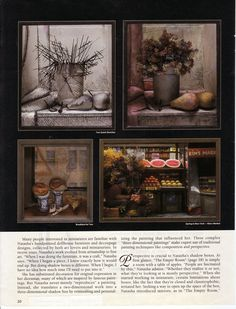 """The Art of Natasha Beshenkovsky"" by Jane Freeman. ""Dollhouse Miniatures"" January 2003 Page 3"