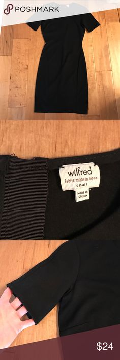 Wilfred/Aritzia Black Dress Wilfred line by Aritzia black dress in ponte material. Zips up back. Worn once and dry cleaned! Aritzia Dresses Mini