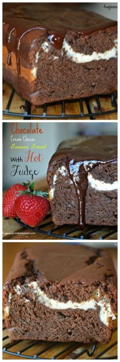 You'll Need: 10 inch loaf pan Cooling Rack Print Chocolate Cream Cheese Banana Bread Ingredients Bread 8 Tablespoons salted butter, room…