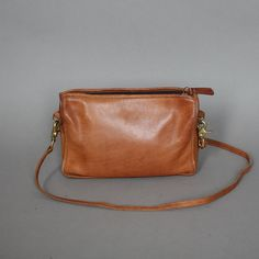Vintage Coach Purse Brown Leather Bag by persnicketyvintage, $58.50
