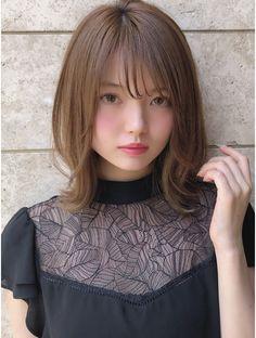Japanese Beauty, Asian Beauty, Cute Hairstyles, Straight Hairstyles, Japanese Haircut, Hair Setting, Perfect Curls, Hair Goals, Dyed Hair