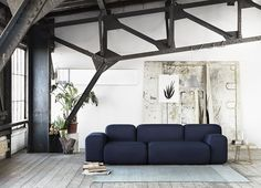 Standout Navy sofa really shows off the design of this sofa and presents well in it's home.