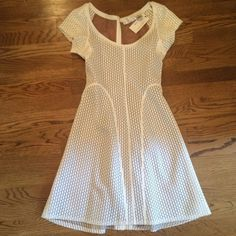 Byron Lars White Hot Summer Dress Ready for the summer?!!!! This white mesh dress is gorgeous! Lined and well made. Beauty Mark collection. Anthropologie Dresses