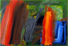 another Howard Hodgkin painting. I love his work, he puts heart and soul into his paintings.  I don't just look at his work, I feel it. Sadly a lottery win is my only hope of ever owning one. Sigh!