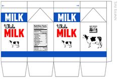I designed these labels, and was inspired by those generic TV milk cartons. There's one for whole milk, chocolate, strawber...