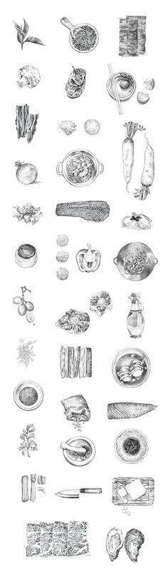 Food Pencilled by Tuan Nini, via Behance