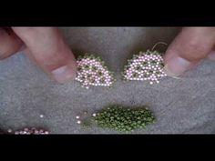 Beaded Fan Earrings Part 2 Jewelry Making Tutorials, Beading Tutorials, Video Tutorials, Seed Bead Jewelry, Seed Beads, Beaded Jewelry Patterns, Earring Tutorial, Bijoux Diy, Bead Earrings