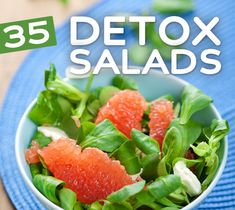 35 Detox Salad Ideas // yummy mixture of ingredients that detoxify the body #healthy. For my veggies only cleanse days