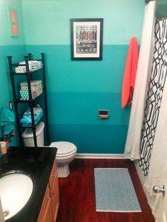 Ombre-bathroom-bathroom-decorating-ideas-bathroom-design-decorating-trends-2017-interior-design-2017  #ombre #bathroom #bathroomdesign #homedecor #homedesign #home #interiordesign #interior #decor #decoration #design