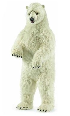 "Hansa Plush Polar Bear Giant Life Size 4' 9"" Very RARE 