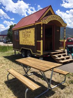 The tiny house we built for a client is now up and running as the best little coffee shop there ever was! Really cute tiny house parked conveniently in Poncha Springs on Hwy 285 / 50 just west of …