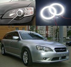 (30.00$)  Watch now - http://aipud.worlditems.win/all/product.php?id=32384758857 - For Subaru Legacy Liberty 2003 2004 2005 2006 Excellent Angel Eyes Ultra bright illumination smd led Angel Eyes Halo Ring kit