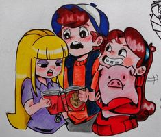 dipper pacifica and mabel by yhoss on DeviantArt