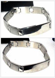 "Mens Gents Stainless Steel Bracelet 8.5"" USA Seller Christmas In July https://twitter.com/jewelrywiz"