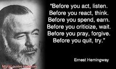 Quote #87 Before You Act, Listen