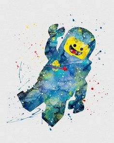 Watercolor art, Lego and Watercolors on Pinterest