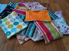 hmmmm I just use cut up flannels, but these are *cute* reusable baby wipes!