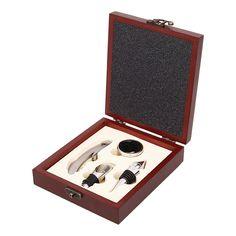 Wine Gift Set Bottle Opener Wine Corkscrew Tools Bar Accessories In Wood Gift Box Free Shipping