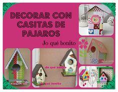 Decora tu hogar con casitas de pájaros elaboradas y decoradas a mano