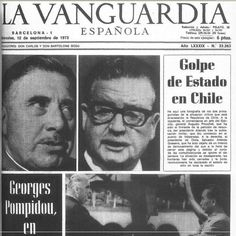 "Portadas de la prensa nacional y extranjera pre y post ""11"" Chili, Military Dictatorship, Newspaper Headlines, Fidel Castro, South America Travel, Historical Pictures, World History, Education, Civil Wars"