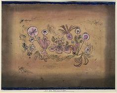 Medicinal flora  Paul Klee (alemán (nacido en Suiza), Münchenbuchsee 1879-1940 Muralto-Locarno)  Fecha: 1924 Medio: Acuarela y tinta transferida la impresión en papel, que limita con gouache y tinta Dimensiones: H. 11 3/8 x W. 15 3/8 pulgadas (28,9 x 39,1 cm) Clasificación: Dibujos Línea de crédito: La Colección Berggruen Klee, 1987