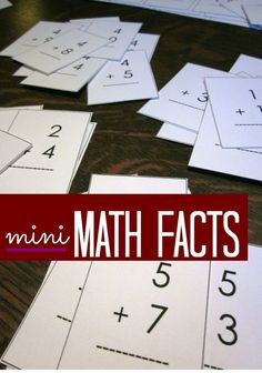 Have kids struggling with math? They can master math facts with these mini flash cards. It's a great at home learning activity but still fun. I like to use these over summer break so that they are getting some math skills in over the summer!  #teachmama #math #summerlearning #mathgame #mathfacts #learningmath #teachingmath #teachingtips #education #learningmath