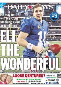 Eli the Wonderful. Giants > Cowboys 12.11.11 #TeamManning