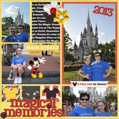 MouseScrappers Template Challenge #214 Walt Disney World-The Magic Kingdom (The Castle) Credits: Template-Geekery Scraps by Kayla Kit-In the Pocket Vol 1, In the Pocket Vol 1-Extras, In the Pocket Vol 1-Papers  and Red Alpha WordArt Freebie all by Kellybell Designs Freebie