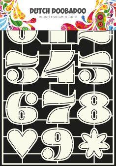 470.455.006 Dutch Doobadoo Stencil Art Numbers 2