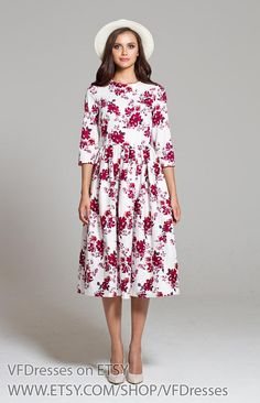 Sweet Cranberry Ideal hot weather dress Lovely Silk  Dress with Cap Sleeve  21 Colors RAMIES
