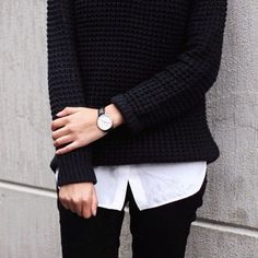 Sweater over button up