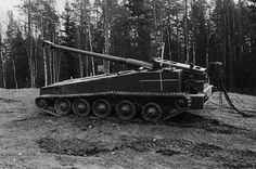 UDES 03 Swedish Tank Destroyer Kalla Kriget, Swedish Army, Tank Destroyer, Battle Tank, Panzer, Military Vehicles, Wwii, Tanks, Cool Photos