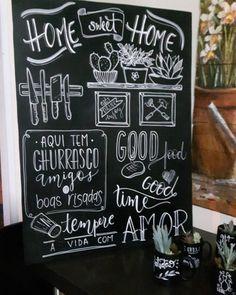 Blackboard Drawing, Chalkboard Wall Art, Chalk Wall, Chalkboard Lettering, Graffiti Lettering, Lettering Design, Chalkboard Restaurant, Transforming Furniture, Chalk Drawings