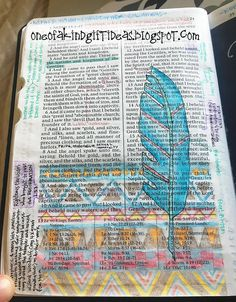 One of a Kind: Non Wide Margin Bible or Book of Mormon Journaling Part 1- Colored Pencils