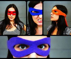 Great size pattern for kids teenage mutant ninja turtle mask.