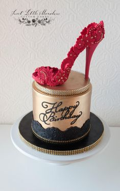 Red Stiletto Heel Cake - Cake by Stephanie