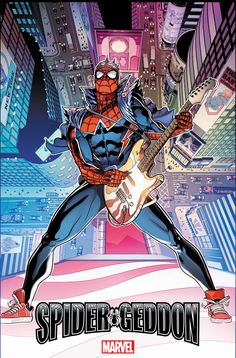 SPIDER-GEDDON from Christos Gage and Jorge Molina with a new spider-punk variant cover from superstar artist Wil Sliney, with colors by Frankie D'Armata! Marvel Comic Universe, Marvel Art, Marvel Dc Comics, Marvel Heroes, Drawing Cartoon Characters, Character Drawing, Marvel Characters, Cartoon Drawings, Comic Character