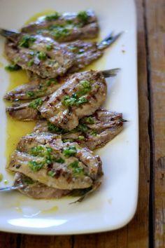 As Minhas Receitas: Sardinhas Abertas com Molho de Limão, Azeite e Salsa