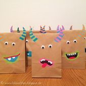 DIY giveaway bags in a monster look for monster children's birthday / www. - DIY giveaway bags in a monster look for monster children's birthday / www. Monster Birthday Parties, Monster Party, Diy Birthday, Monster Games, Birthday Gift Wrapping, Birthday Gifts, Creative Gift Wrapping, Creative Gifts, Kids Crafts