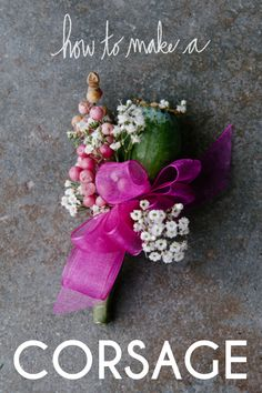 How To Make a Corsage (has links on how to make floral crown and etc etc)