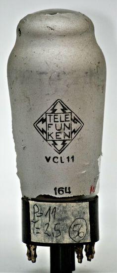 VCL11 TELEFUNKEN VALVOLA tube dke38 volksempfanger radio POPOLARE Kleinempfänger Radios, Radio Design, Vase, Ebay, Vintage, Vintage Comics, Vases, Jars