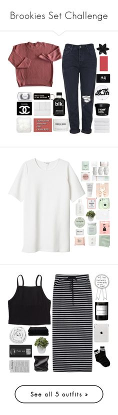 """""""Brookies Set Challenge"""" by xilahax ❤ liked on Polyvore featuring brookie700, Topshop, Chanel, ASOS, Enchanté, H&M, Jonathan Adler, Windle & Moodie, Bench and Various Projects"""