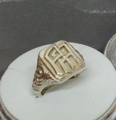 """Vintage Ringe - 19,2 mm Siegelring 800 Silber Initialen """"AA"""" SR577 - ein Designerstück von Atelier-Regina bei DaWanda"""
