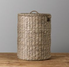 RH Baby & Child's Seagrass Hamper - Ash:Our hamper is woven from seagrass and has a sturdy metal frame.