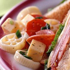 All the flavors of pizza are combined in this pasta salad recipe.
