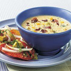 Corn and Bacon Chowder | MyRecipes.com #myplate #vegetable