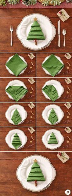 15 pliages de serviettes pour une table de Noel originale! Inspirez-vous (Tutoriel)