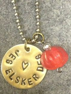 Love In Any Language Handstamped Metal Necklace on Etsy, $12.00