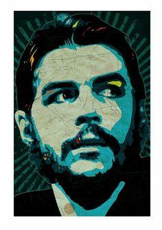 My Illustration of Che Guevara. This is a limited edition print. Flores Magon, Pablo Emilio Escobar, Ernesto Che Guevara, Biography Books, Black Phone Wallpaper, Portrait Art, Portraits, Limited Edition Prints, Illustration Art