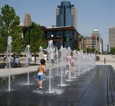 One of my favorite parks - Don't miss Smale Riverfront Park. It's right on the Ohio River, between the Reds and Bengals stadiums. Kids can enjoy two water features. Multi-person swings, historical monuments, walking paths, etc.